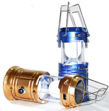 LED Lantern Light Solar Panel Power Collapsible Rechargeable Hand Camping Lamp