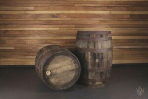 Solid Oak Used Full Size Whisky Barrel Wooden Keg Rustic Reclaimed Barrels