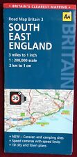 AA 2011 2-SIDED COLOUR PAPER ROAD MAP 3 of SOUTH EAST ENGLAND 1:200 000