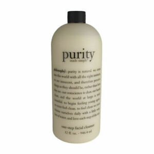 New Philosophy Purity Made Simple One-Step Facial Cleanser with Pump  32oz.