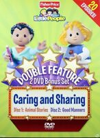 Fisher Price Little People Caring and Sharing Double Feature 2 DVD Bonus Set NEW