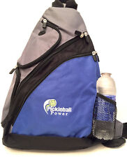 "PICKLEBALL MARKETPLACE ""Urban Sport"" Sling Backpack - New/Embroidered - Blue"