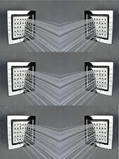 Platz 120*130MM Seitenbrause Body shower Brause Dusche Massagedüsen Seitendusche