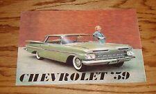 1959 Chevrolet Full Size Car Foldout Sales Brochure 59 Chevy Impala Bel Air