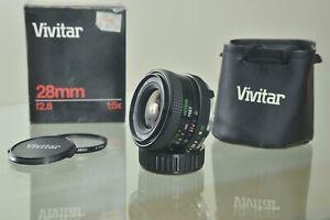 Vivitar 28mm f/2.8 Wide Angle Macro Lens For Minolta SLR manual focus M/MD MC