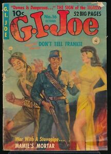 G. I. JOE No. 16 1952 Ziff-Davis War Comic Book RAFAEL DeSOTO GGA Cover 2.0 GD