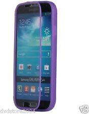 Custodia WALLET Cover VIOLA FRONTE TRASPARENTE per Samsung I9500 Galaxy S4