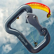 Abseiling Paragliding Paraglider Parachute Clip Clasp 18KN Lock Carabiner Snap