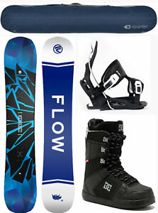 2021 FLOW Burst 159 WIDE Mens Snowboard Package+Flow Bindings+DC Phase Boots+BAG