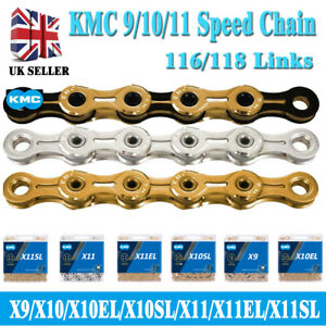 KMC Bike Chain 9/10/11/12 Speed Road MTB Chains X8 X9 X10 X11 With Retail Box