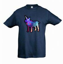 English Bull Terrier - Unicorn Dog TShirt, Childrens Kids Tee Check Measurements