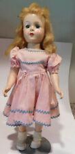 "Vintage 17"" Hard Plastic Head Turning Walker Doll  Madame Alexander Maggie ?"