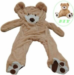 Life Size Huge Plush Teddy Bear Unstuffed Soft Giant Animal Toy DIY Only Cover