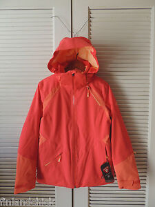 NORTH FACE SKYLAR MELON RED INSULATED HOODED SNOW SPORT JACKET,  M ~NWT ~ $ 449