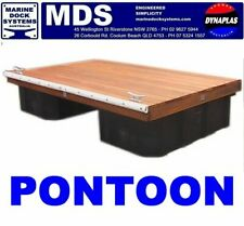 3.6 x 2.1 mtr FLOATING PONTOON BOAT JETTY MARINE WALKWAY DOCK POLY FLOATS NEW