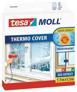Tesa Fensterfolie Thermo Cover transparent 1,7mx1,5m Isolierfolie Folie Fenster
