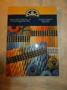 DMC Mouline Color Card Thread Samples Embroidery Floss Pearl Cotton New Ed 2000