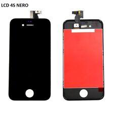 TOUCH SCREEN+LCD DISPLAY RETINA + FRAME PER APPLE IPHONE 4S VETRO SCHERMO NERO