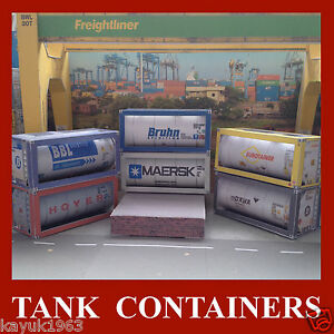 OO Gauge 1:76 Tank Containers Rail Freight Rolling Stock Choose from list