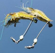 5x Noctilucent Soft Silicone Simulation Prawn Shrimp Fishing Lure Hook Bait Tips