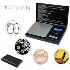 1000g 0.1 Digital Pocket Scales Gold Jewellery Precision Electronic Micro mg Lab