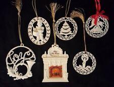 6 Lenox Christmas Tree Ornament Joy Candle Tree Drummer Boy Fireplace Angel Lot