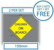 2 X Niños A Bordo Bebé A Bordo Pegatina Vinilo Adhesivo Pegatina de coche de seguridad