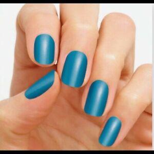 Color Street Nail Polish Strips Maui Mystic HTF Retired Rare New Teal Blue