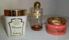 Vintage Lot Vanity Vibrance creme Masque Auvergne Cologne Avon Cream Sachet