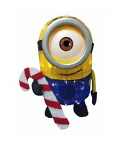 """28"""" Tinsel Minion, With 50 Warm White LED Lights, Lawn Stakes Included."""