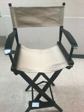 Pier 1 Folding Directors Chair beige Canvas Furniture Wood Quality USED once