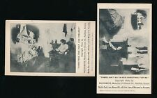BRISTOL Lord Mayors Fund x2 advertising cards c1900s/10s social history