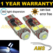 2x W5W T10 501 Errore Canbus libero white CREE LED Tail Rear Light Bulbs tl104501