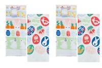 Celebrate Easter Together Kitchen Dish Towels BUNNIES & CHICKS 4-Piece Set NEW