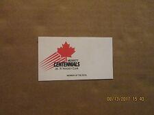 Bchl Merritt Centennials Jr.A Hockey Club Team Logo Hockey Business Card