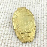 Christofle Placcato Oro Agricolo Show Giudice Distintivo Spilla Agricoltura