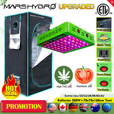 Reflector 300W LED Grow Light Veg Flower +2'x2' Indoor Grow Tent Kit