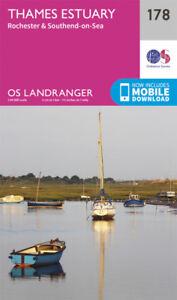 Thames Estuary Rochester Southend Landranger Map 178 Ordnance Survey Latest