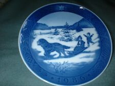 "1986 Royal Copenhagen 7 1/2"" ""Juleferne Christmas Holidays Signed China Plate"
