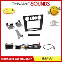 Manual Climate Double Din Stereo Fitting Kit For BMW 1 Series E81, E82, 04-13