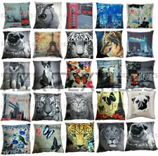 Polyester Animal Print Bedroom Decorative Cushion Covers