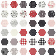 252 Fabric Hexagons - diecut from a Moda Layer Cake - Volume II by Sweetwater