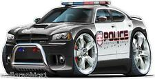 Dodge Charger HEMI Police Car Wall Decal Game Room Graphics Garage Cling Poster
