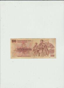 CZECHOSLOVAKIA   500  KORUN  1973