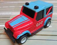 Per H0 Slotcar Racing Modellismo Ferroviario Tyco Jeep Con Marcia + 2 Nuovo