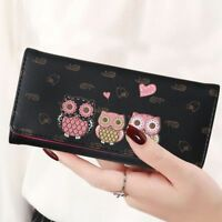Women Cute Owl Wallets Lady Long Short Style Coin Purses Money Cards Bags Clutch