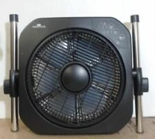 """NEW OPEN BOX Air Innovations 12"""" Swirl Cool Stand Fan w/Remote Black $110 - READ"""