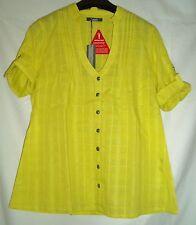 Karierte 3/4 Arm Damenblusen, - tops & -shirts aus Baumwolle