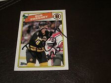 BOB SWEENEY AUTOGRAPHED 1988 TOPPS ROOKIE CARD-BRUINS