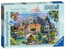 Ravensburger puzzle * 1000 piezas * country Cottage 11 * snowdrop Cottage * rareza * OVP